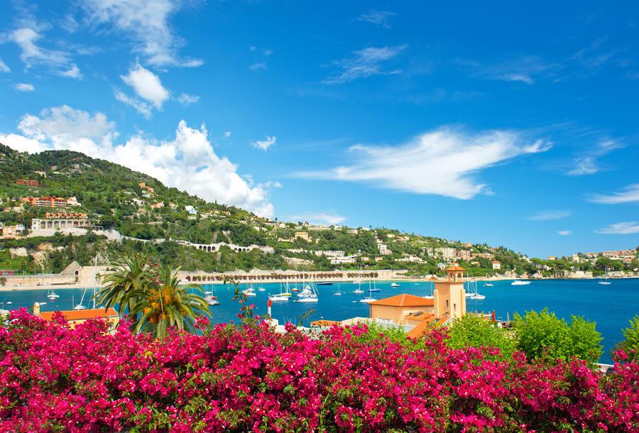 beautiful mediterranean landscape. french riviera near Nice and Monaco