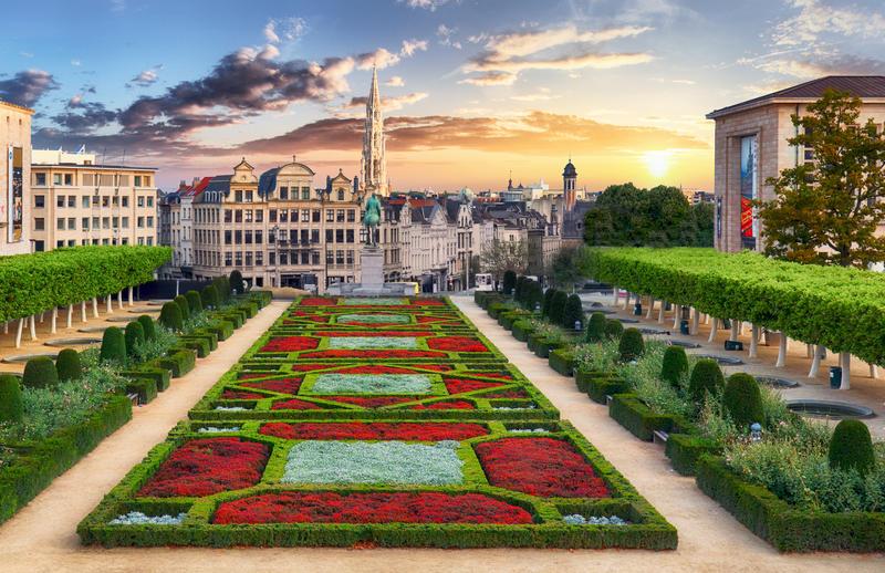 Brussels at sunset, Belgium