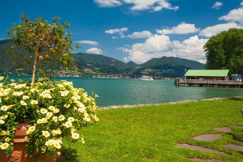 Lake Tegernsee near the town Bad Wiessee in Bavaria - Germany