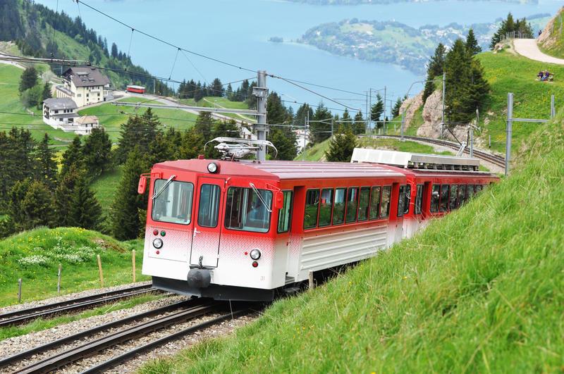 Narrow gauge railway. Switzerland.